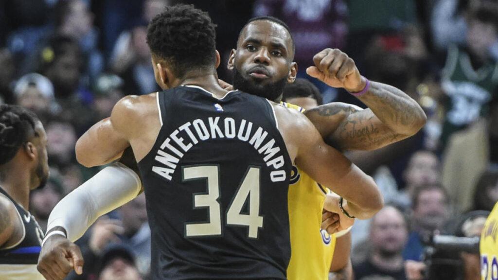 Giannis Antetokounmpo et Lebron James trônent toujours en tête de la course au MVP