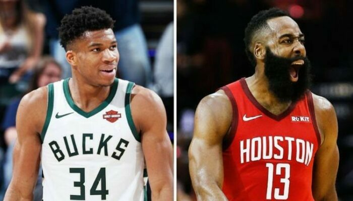 Giannis Antetokounmpo et James Harden