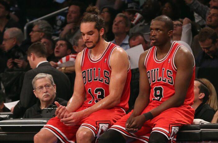 Joakim Noah et Luol Deng sous le maillot des Chicago Bulls