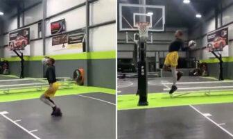 Jordan Southerland signe un dunk inédit