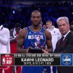 NBA – Team LeBron remporte un génial All-Star Game, Kawhi MVP !