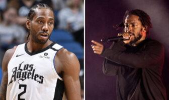 Kawhi Leonard et Kendrick Lamar