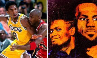Kobe Bryant, Michael Jordan, LeBron James et Zion Williamson