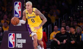 Kyle Kuzma sous le maillot des Lakers