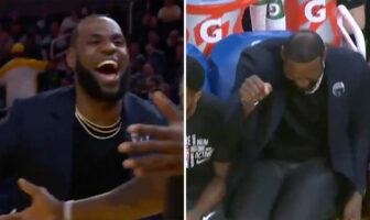 LeBron James fait le show sur le banc des Lakers