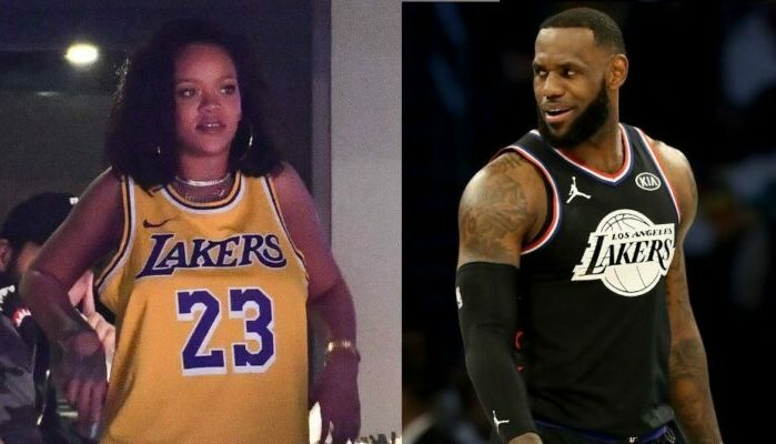 Rihanna et LeBron James