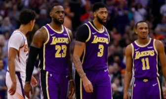 lebron james, anthony davis et avery bradley sous le maillot des lakers