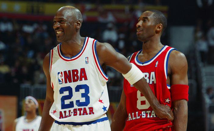 Michael Jordan et Kobe Bryant durant le All-Star Game