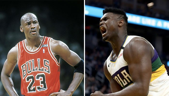 Michael Jordan et Zion Williamson