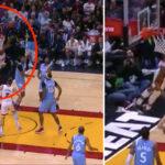 NBA – L'incroyable acrobatie aérienne de Derrick Jones Jr !
