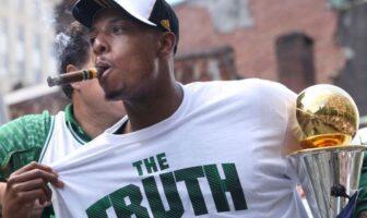paul pierce cigare à la bouche après le titre de 2008