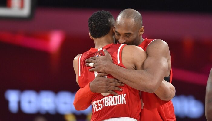 Russell Westbrook publie son message hommage à Kobe Bryant