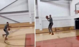 Zach LaVine tease un dunk fou