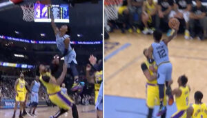 NBA – Ja Morant tente un nouvel assassinat sur Anthony Davis !