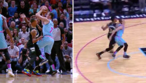 NBA – Giannis auteur d'un mauvais geste après un coup sous la ceinture de Dragic ?