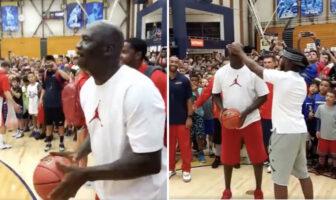 Michael Jordan avait l'occasion de faire gagner des Jordans gratuites à tous les enfant d'un camp de basket