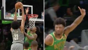 NBA – La petite provocation de Marcus Smart après un gros contre sur Jarrett Allen