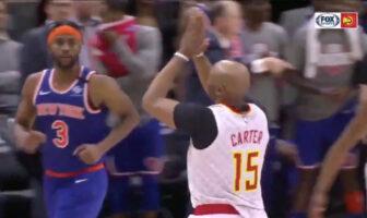 Vince Carter a peut-être inscrit son dernier panier en NBA cette nuit face aux Knicks. Les fans ont adoré