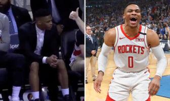 Russell Westbrook moqué pour sa tenue par les commentateurs des Rockets
