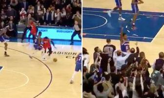 La grosse défense de Frank Ntilikina sur Westbrook pour offrir la victoire aux Knicks