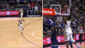 NBA – L'alley-oop impressionnant entre Zion Williamson et Lonzo Ball !