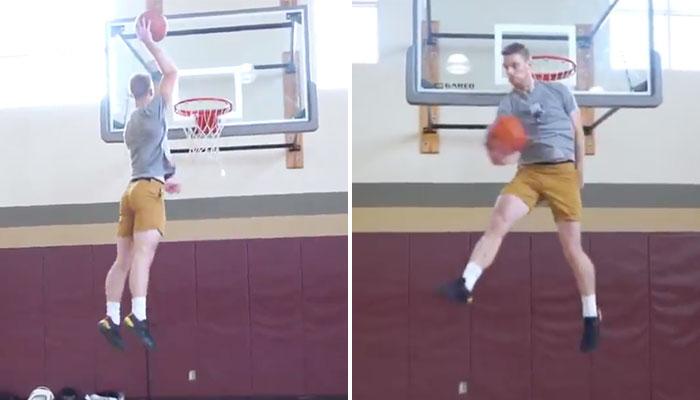 Conor Barth lors d'une session de dunks