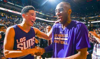 Devin Booker et Kobe Bryant