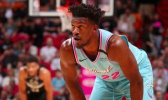 jimmy butler réagit à la victoire du Heat
