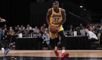 Kostas Antetokounmpo lors du match opposant les South Bay Lakers aux Agua Caliente Clippers