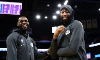 LeBron James et Anthony Davis des Lakers