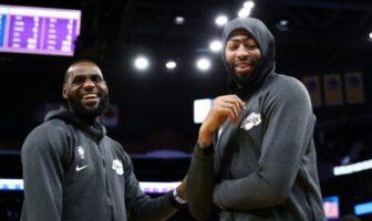 LeBron James et Anthony Davis des Lakers