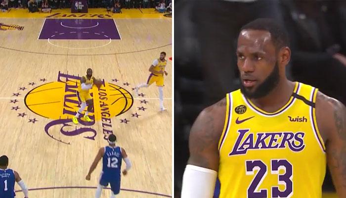 LeBron se prend pour Curry et sanctionne encore du logo !