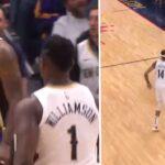 NBA – Zion lâche un tomar, LeBron répond par un missile… 2 secondes après !