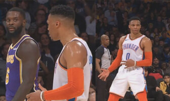 Russell Westbrook Lance Stephenson Air Guitar