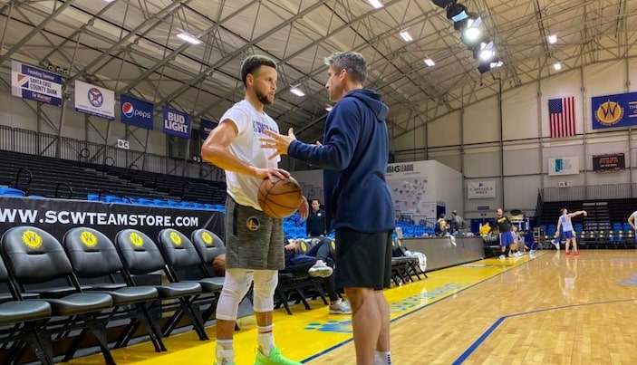 l'entrainement en g league de steph curry