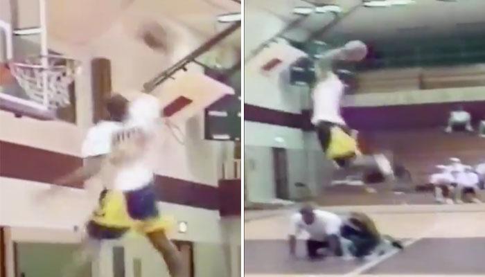 Kobe Bryant a remporté le Dunk Contest de son lycée quand il avait 15 ans