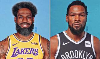 Joueurs nba cheveux barbes confinement