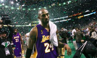 Kobe Bryant après la défaite des Lakers lors des finales 2008