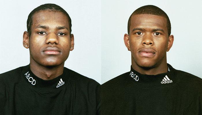 LeBron James et Lenny Cooke lors du Adidas ABCD Camp