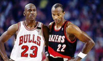 Michael Jordan et Clyde Drexler