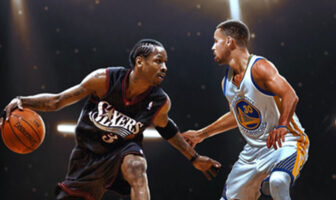Stephen Curry contre Allen Iverson NBA MVP