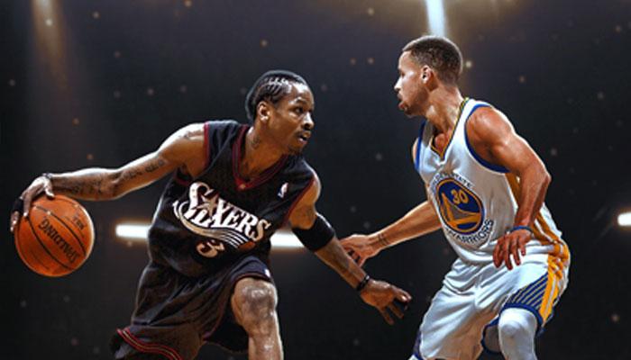 Stephen Curry contre Allen Iverson NBA MVP