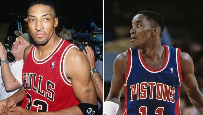 Scottie Pippen et Isiah Thomas