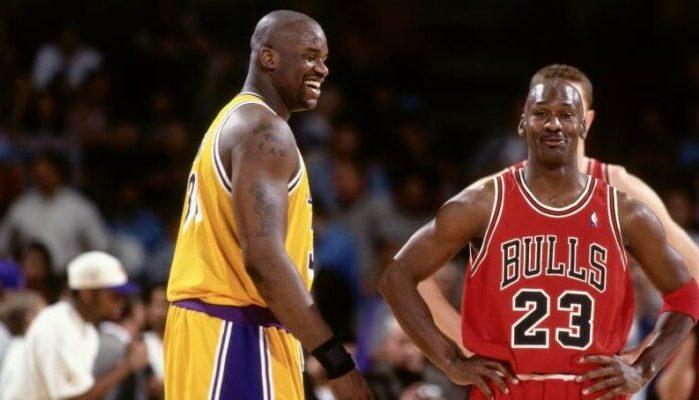 Shaquille O'Neal et Michael Jordan