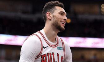 Zach LaVine tout sourire sous le maillot des Chicago Bulls