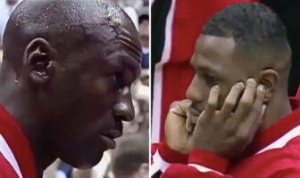 La réactions des Bulls face au troll du Jazz avant le match 6 des Finales 1998