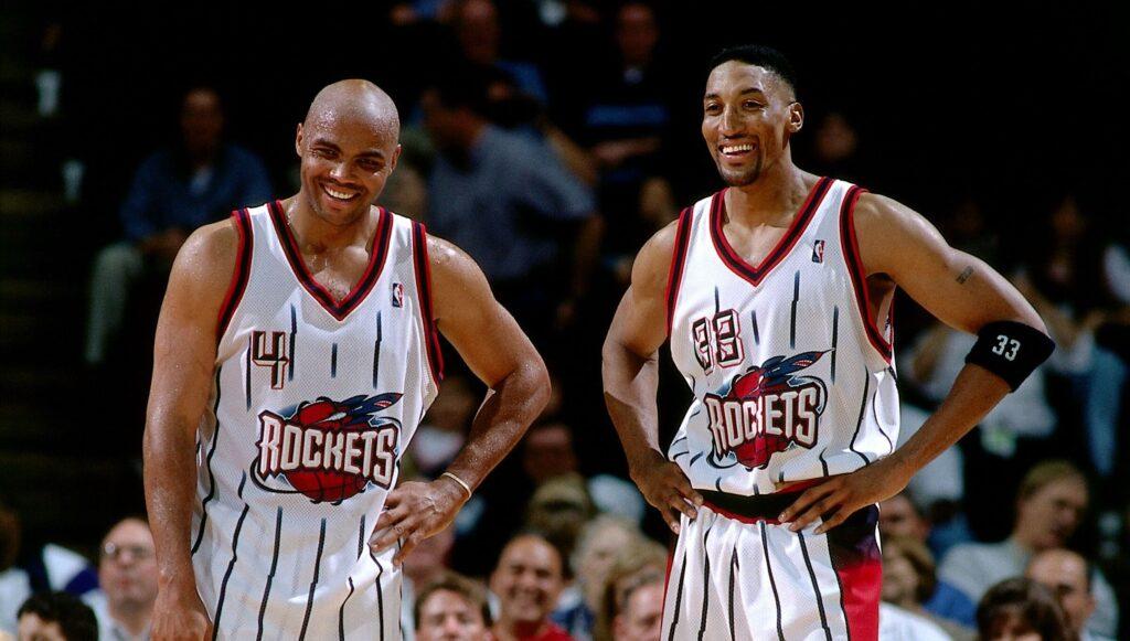 Charles Barkley et Scottie Pippen chez les Rockets