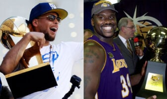 Steph Curry et Shaquille O'Neal