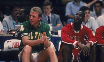 Larry Bird et Michael Jordan