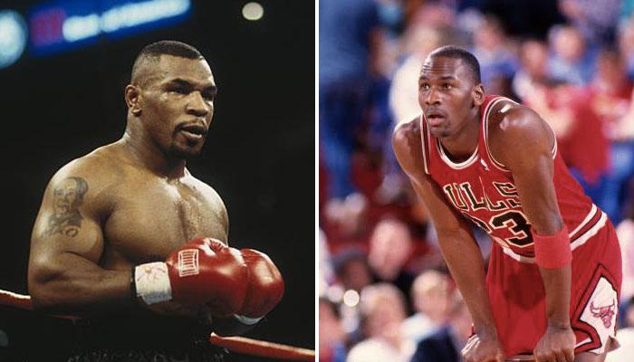 Mike Tyson et Michael Jordan
